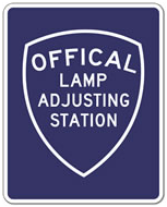 Bob's Mobil Repair Official Lamp Adjusting Station